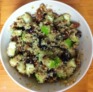 Fall Quinoa Salad with Pears, Walnuts and Cranberries