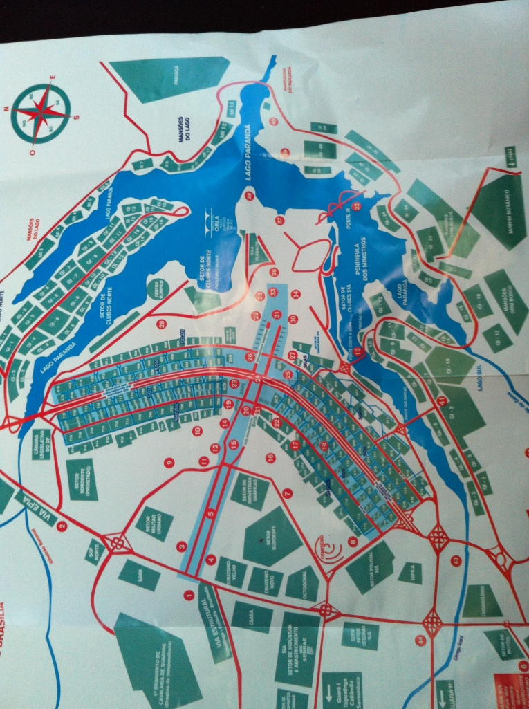 Map of Brasilia